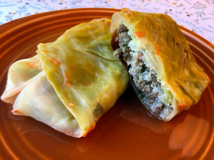 Low Carb Beef And Cauliflower Stuffed Cabbage
