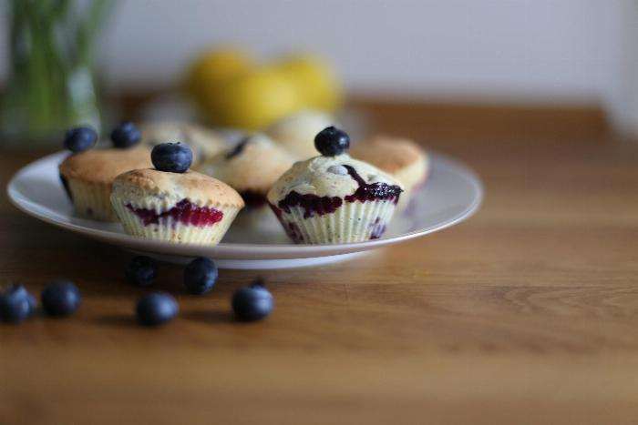 Fresh Or Frozen Blueberry Muffins