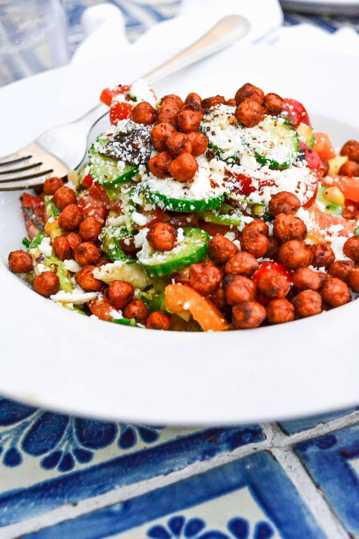 Mexican Chick Pea Chop Salad