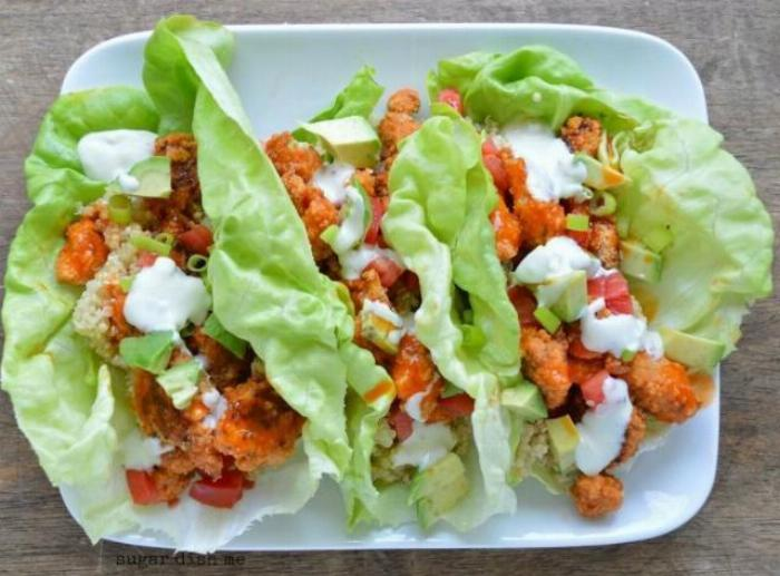 Healthier Buffalo Chicken Sloppy Joe Lettuce Wraps