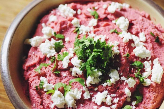 Creamy Beet Hummus (gluten Free, Vegan Option)