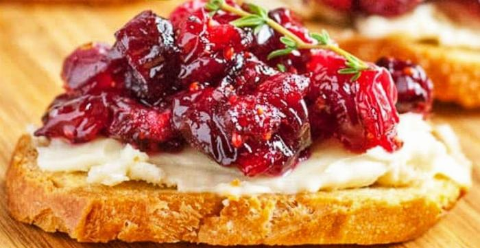 Goat Cheese & Cherry Compote Crostini