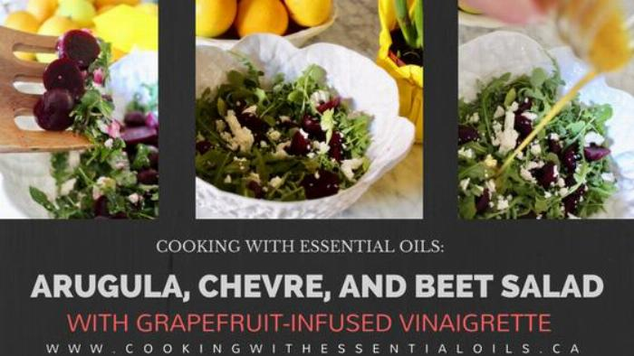 Arugula, Chevre, And Beet Salad With Grapefruit-infused Vinaigrette