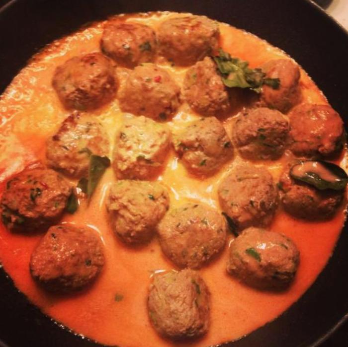Thai Turkey Zucchini Meatballs