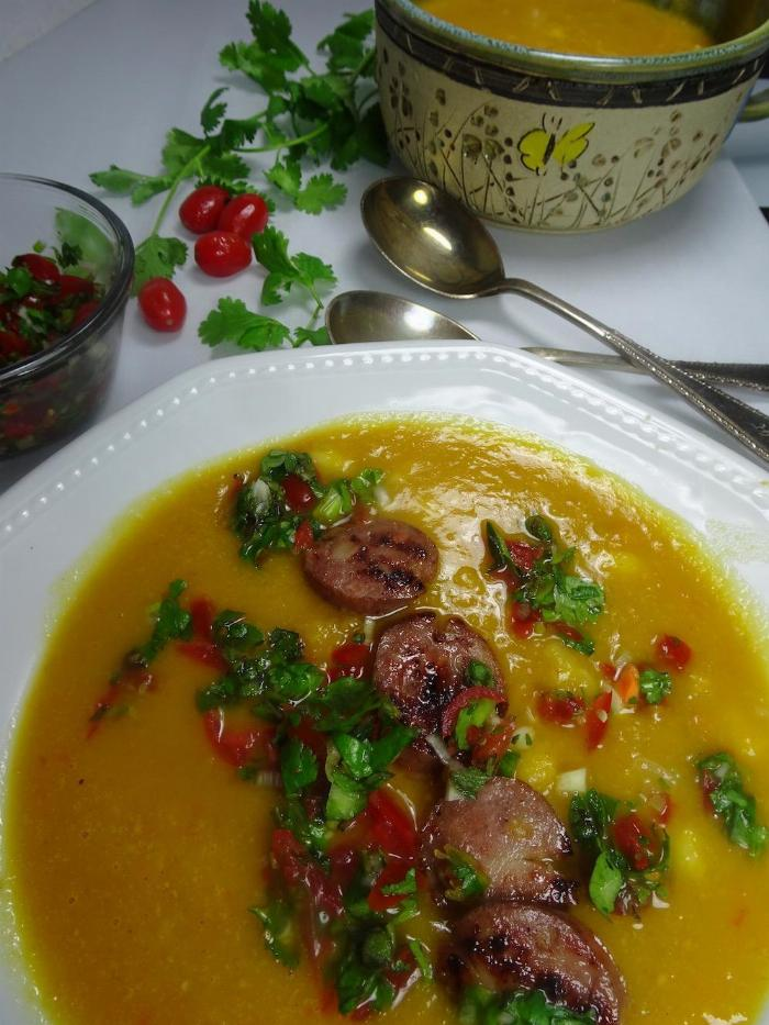 Locros Inspired Squash And Yam Soup