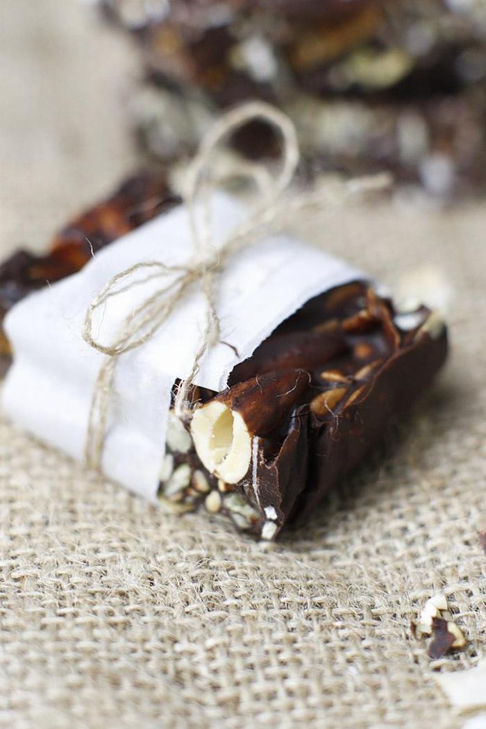 Chocolate Fig Trail Mix Bark