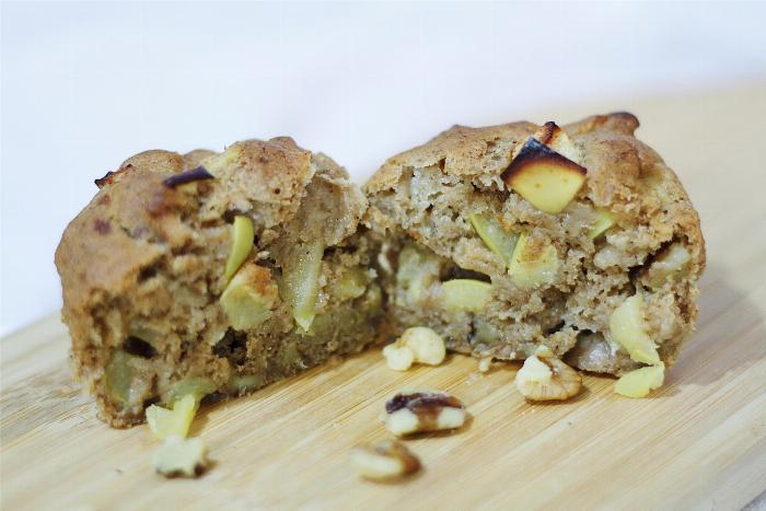 Apple Banana Walnut Muffins