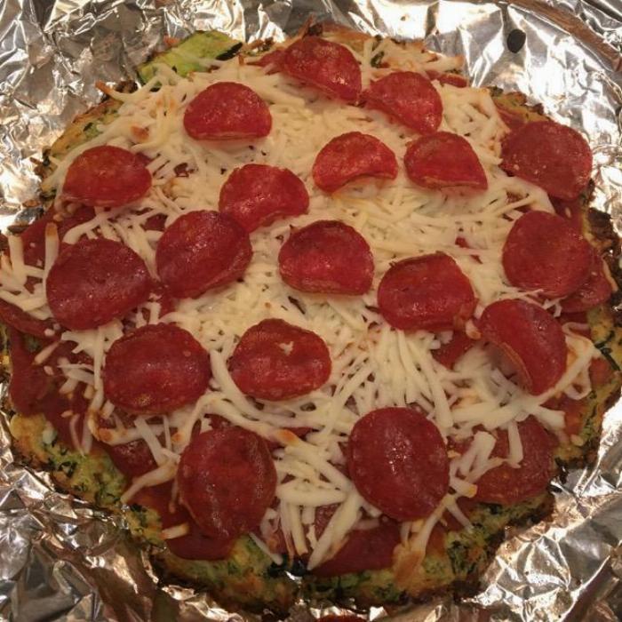 Zucchini Pizza Crust With Essential Oils