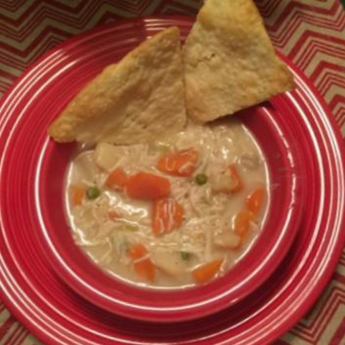 Chicken Pot Pie Soup/pie Crust Crackers