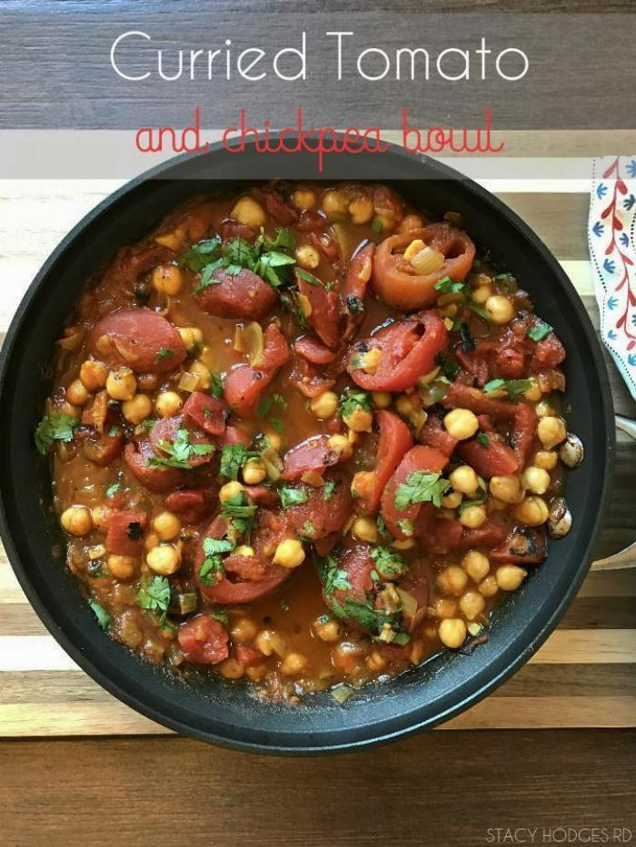 Curried Tomato And Chickpea Bowl