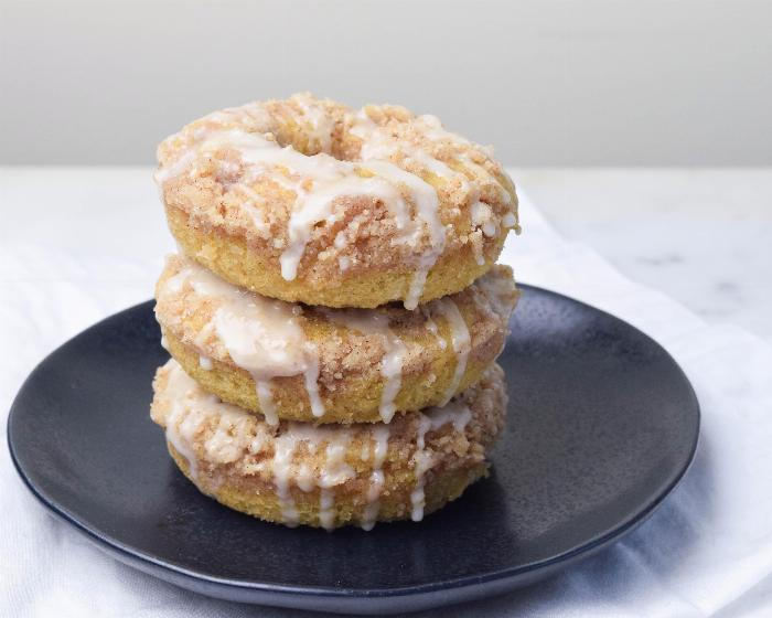 Maple Coffee Cake Donuts