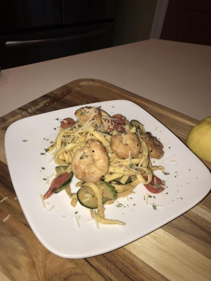 Pasta Primavera With Shrimp And Scallops