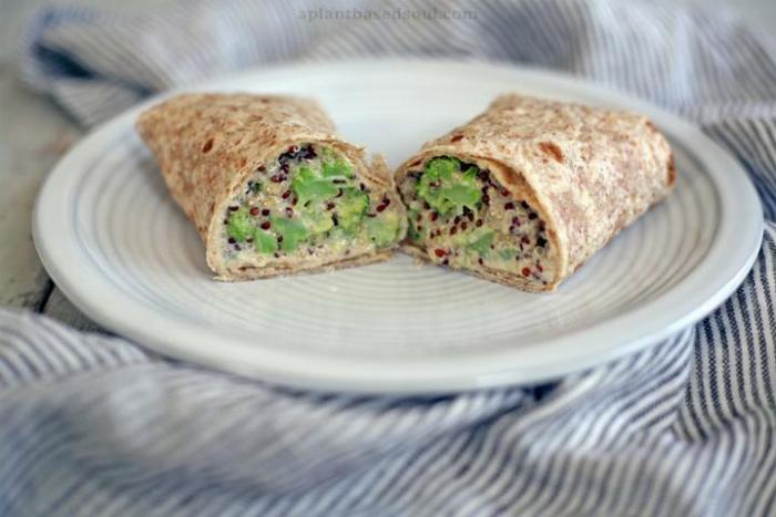 Cheesy Broccoli And Quinoa Wraps