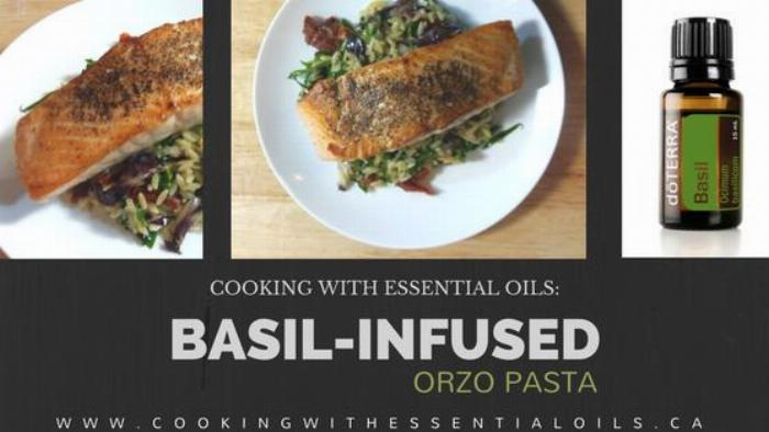 Basil-infused Orzo Pasta