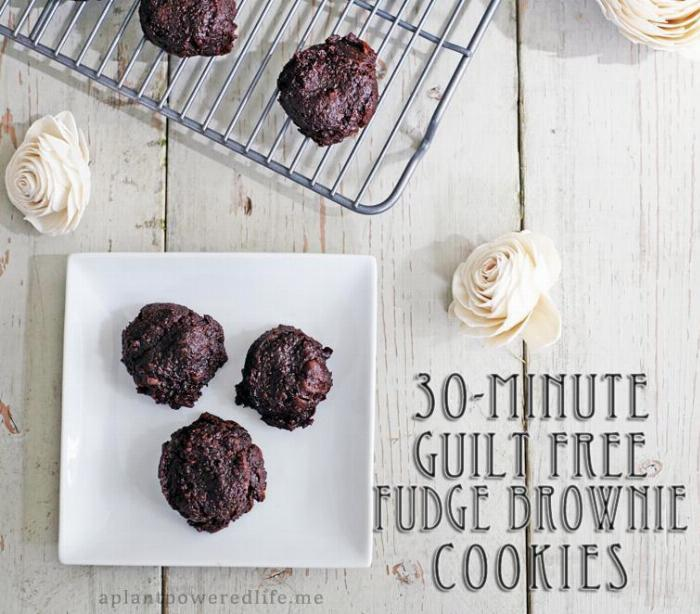 Guilt Free Peanut Butter Fudge Brownie Cookies