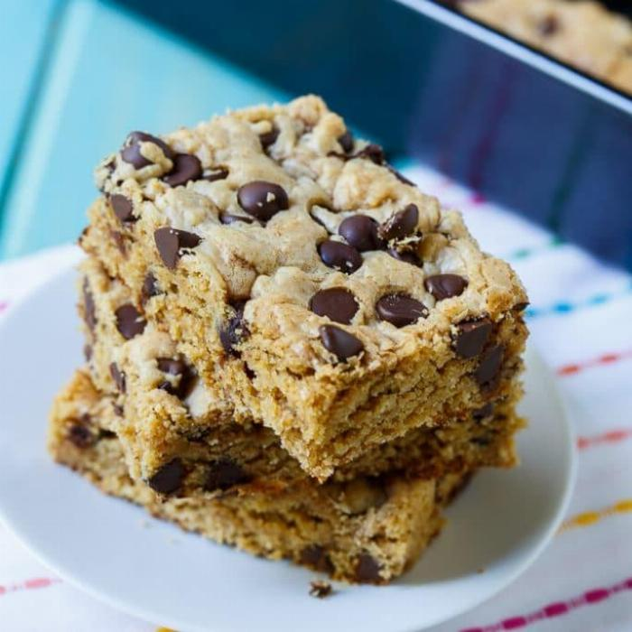 No Bake Peanut Butter Protein Squares