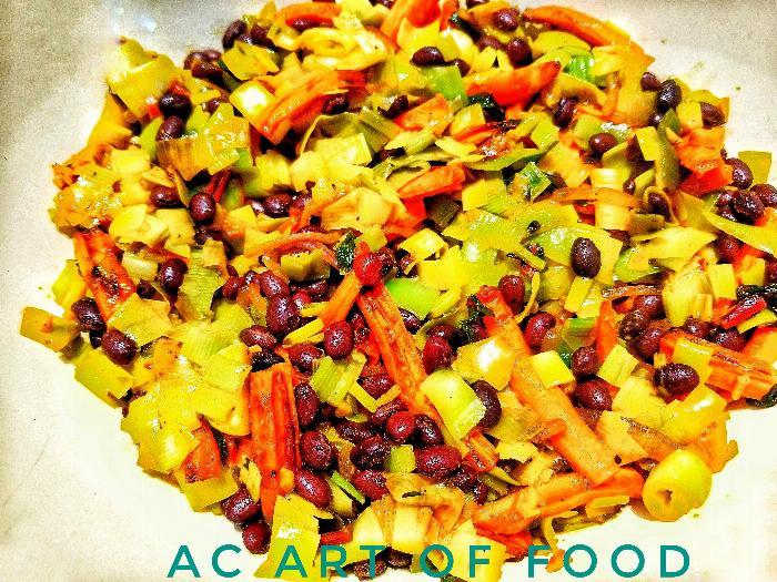 Black Bean & Leek Salad