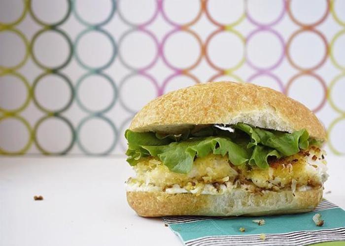 Coconut Panko Fish Sandwich