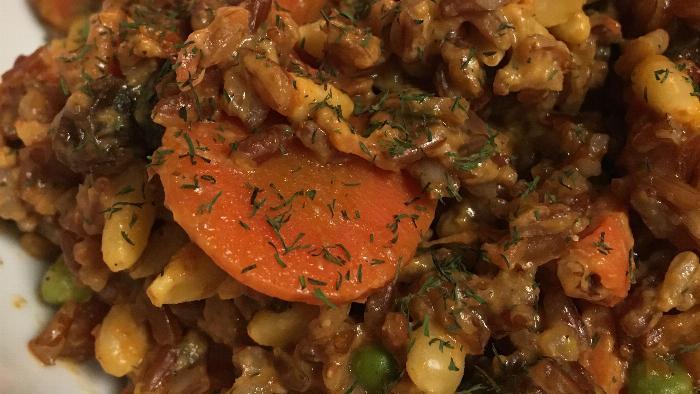 Red Rice & Creamy Dill Salad