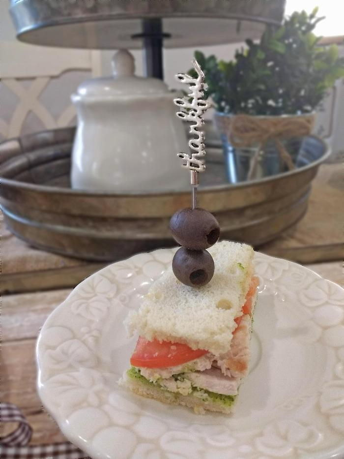 Pesto Turkey Tea Sandwiches