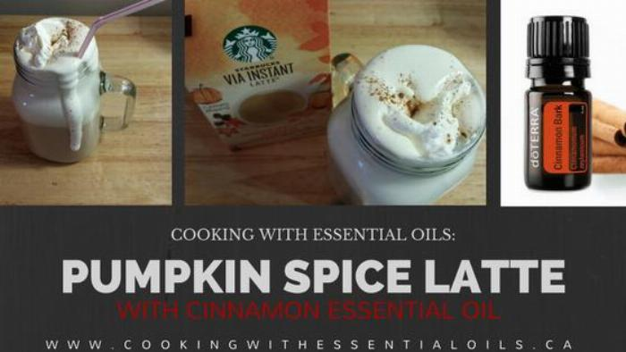 Pumpkin Spice Latte With Cinnamon Essential Oil