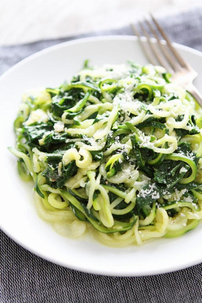 Spinach Parmesan Zoodles
