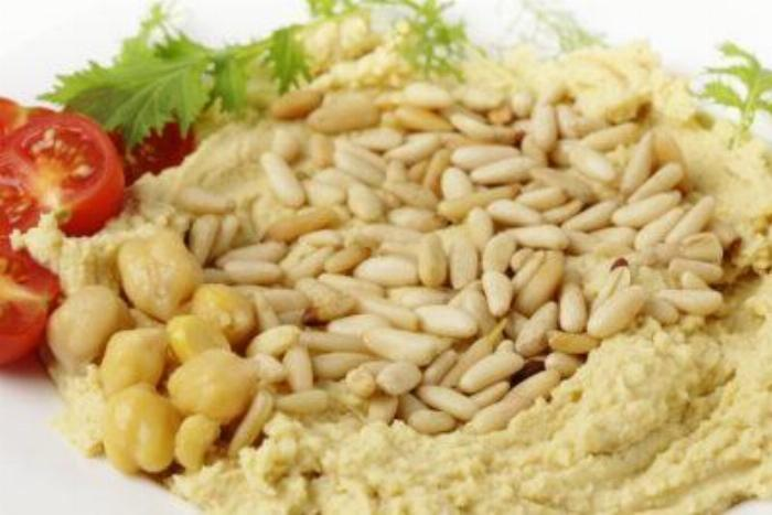 Bell Pepper Hummus With Pinenuts