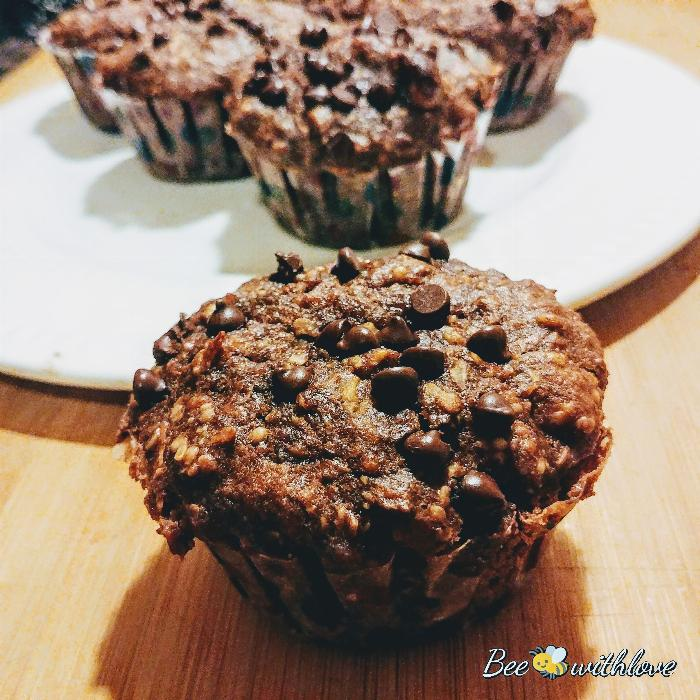 Chocolate Banana Protein Muffins (vgn)