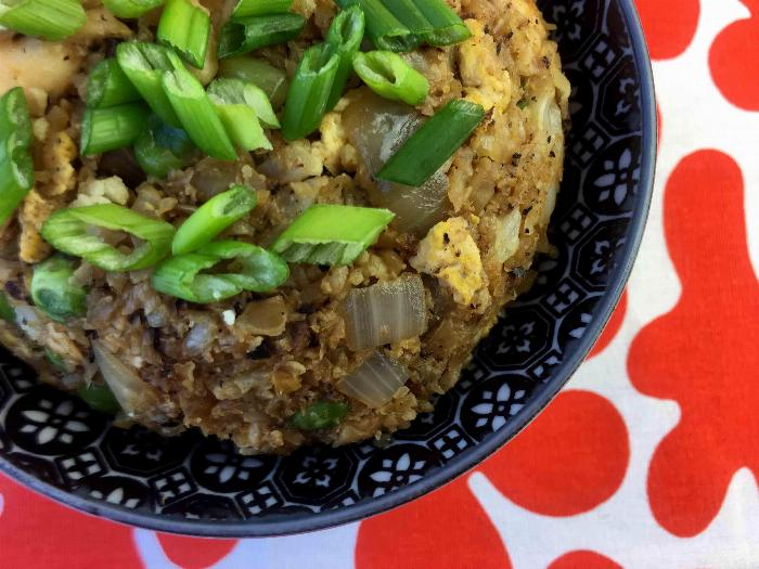 Low Carb Chicken Cauliflower Fried Rice