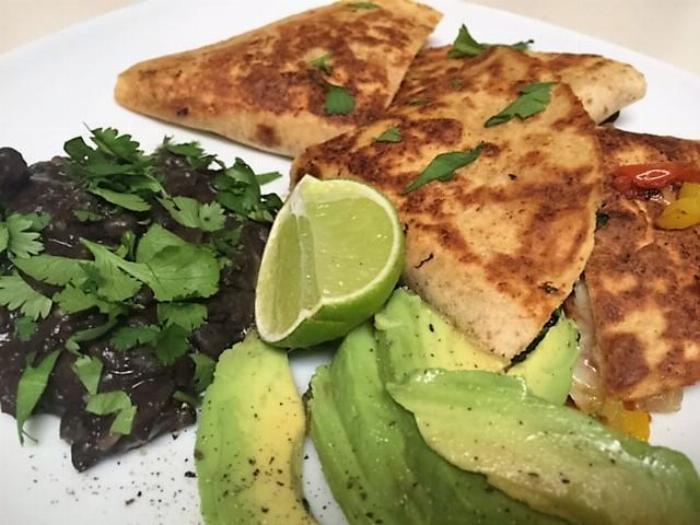 Chicken & Garden Vegetable Quesadilla