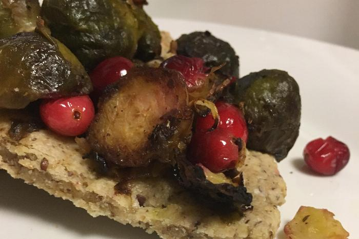 Roasted Brussel Sprout Flatbread