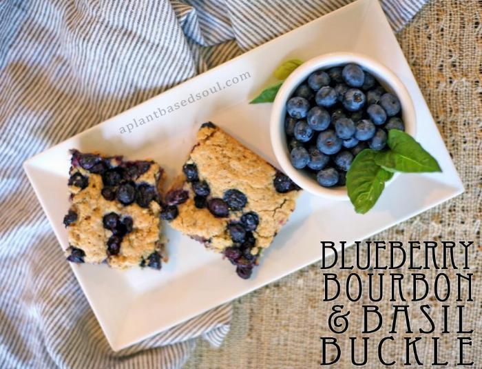 Bourbon Basil Blueberry Buckle