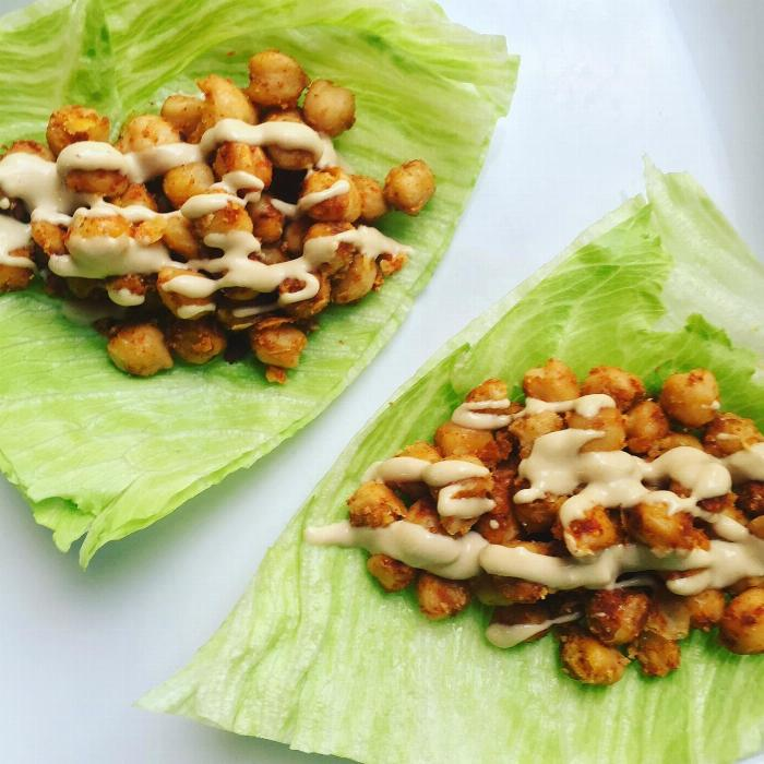 Chickpea Lettuce Wraps W/tahini Dressing