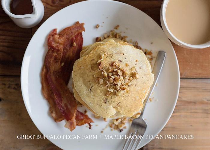 Maple Bacon Pecan Pancakes