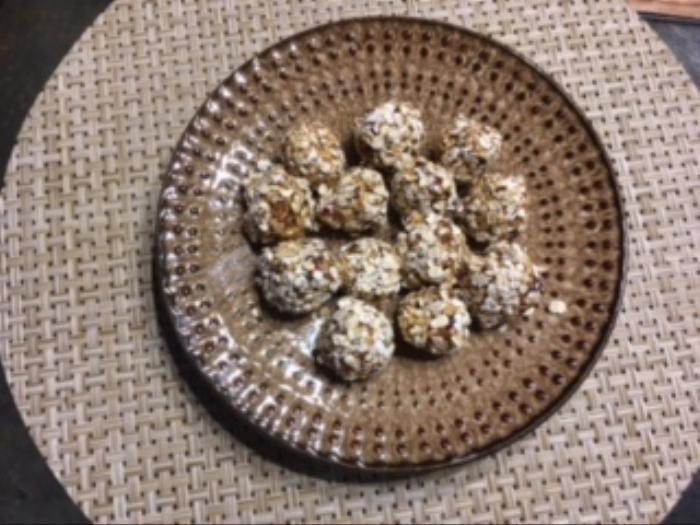 No Bake Pumpkin-oat Energy Bites