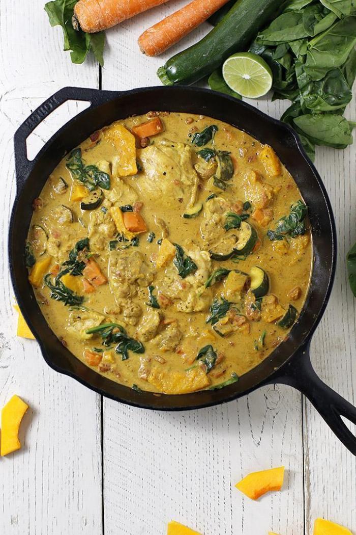 Butternut Chicken Curry With Cauliflower Rice