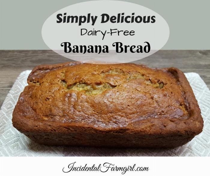 Delicious & Simple Dairy Free Banana Bread