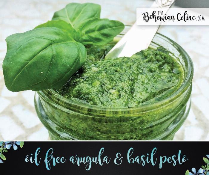 Oil Free Arugula & Basil Pesto