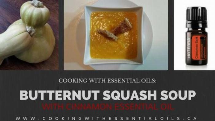 Butternut Squash Soup With Cinnamon Essential Oil