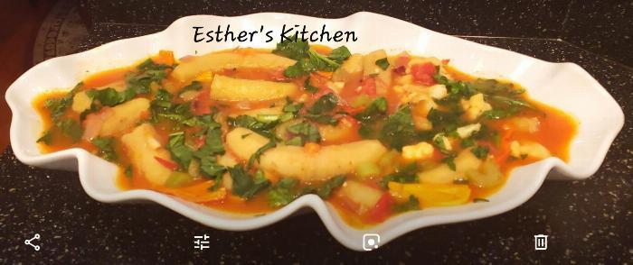 Cauliflower Plantains Soup