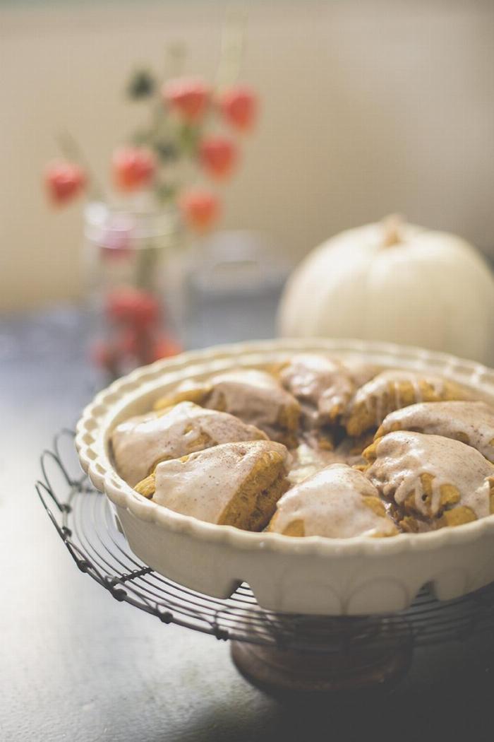 Pumpkin Scones With Maple Glaze (dairy Free, Egg Free, Nut Free)