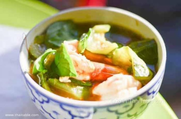 Spicy Vegetable Soup - Gang Liang แกงเลียง