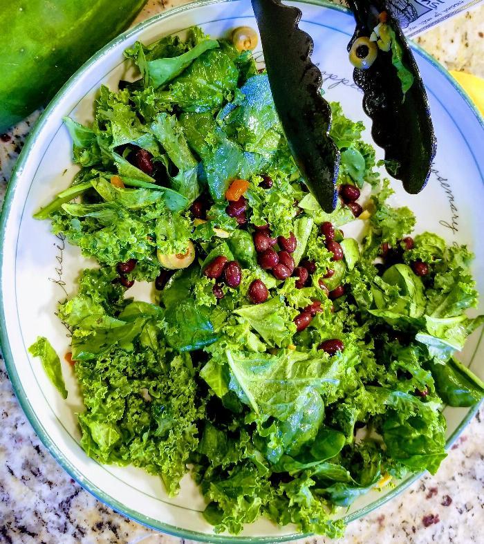 Black Bean & Greens Salad W/ Wrap Option!