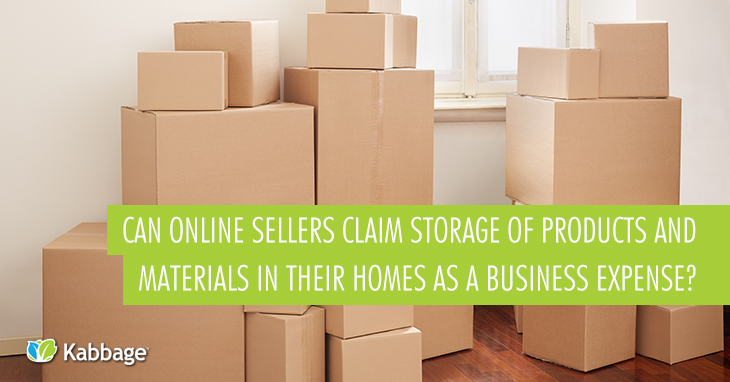 Can Online Sellers Claim Storage of Products and Materials in Their Homes as a Business Expense?