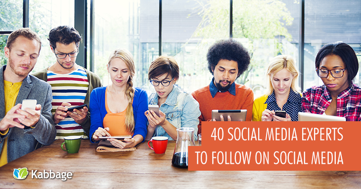 40 Social Media Experts to Follow