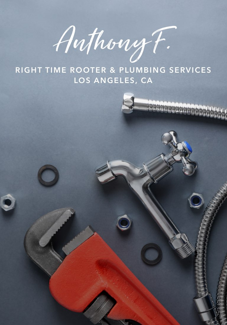 Anthony Flowers, Right Time Rooter & Plumbing Services - Watch the story