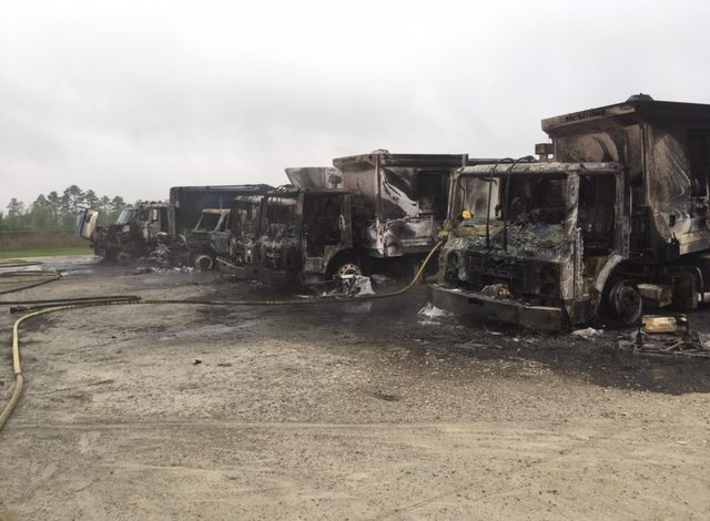 Five Garbage Trucks Catch On Fire In Duson