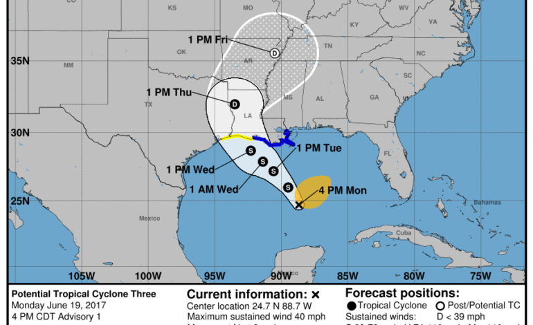 Parts Of Acadiana Under A Tropical Storm Warning News15 Lafayette La