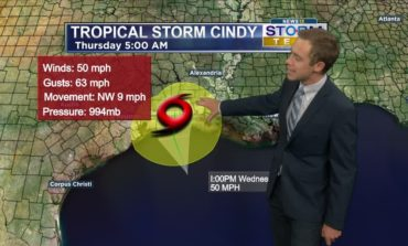 Tropical Storm Cindy Nearing Landfall