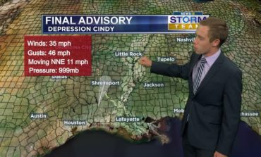 Final Advisory Issued on Cindy, More Rain in Forecast
